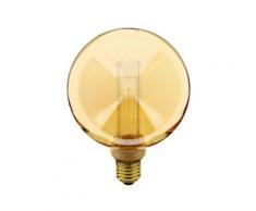 Ampoule LED déco hologramme globe verre ambre culot E27 blanc chaud | Xanlite