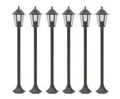 Lampe de jardin à piquet 6 pcs E27 110 cm Aluminium Bronze