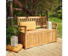 Banc de jardin coffre en bois d'acacia FSC