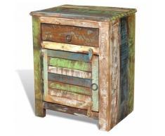Helloshop26 - Table de nuit chevet commode armoire meuble chambre de coin avec 1 tiroir et 1 porte