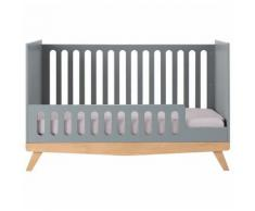 Meubletmoi - Lit bébé gris - MATELOT 9484 - Gris