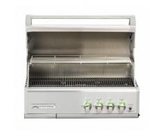 GrandHall - Barbecue à gaz encastrable gris inox 91x50,5x56cm - CROSSRAY 4B Inox Built in