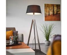 Lampadaire Trepied 'Thea' en bois pour salon & salle à manger