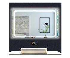 OCEAN Miroir de salle de bain 90x65cm anti-buée miroir mural avec éclairage LED modèle Classique
