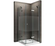 MAYA Cabine de douche H 190 cm en verre semi-opaque 80x75 cm