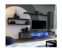 Paris Prix - Ensemble Meuble Tv Design switch Iv 300cm Gris & Noir