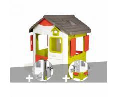 Cabane enfant Neo Jura Lodge - Smoby + Récupérateur d'eau + Espace jardin