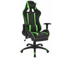 Helloshop26 - Fauteuil chaise chaise de bureau inclinable avec repose-pied vert - Vert