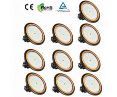 10×UFO Projecteur LED 150W Industriel Phare de Travail de Super Luminosité 22000LM Spot High Bay