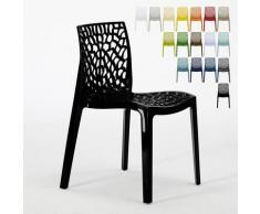 Chaise en polypropylène nid d'abeille cuisine bar café Gruvyer Noir 2 - Grand Soleil