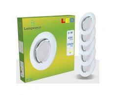 Lot de 15 Spot Led Encastrable Complete Blanc Lumière Blanc Chaud 5W eq.50W ref.267