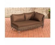 Canapé d'angle Moss rond/marron métallique Marron terre