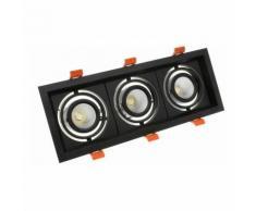 Spot LED Cree-COB Madison Orientable 3x10W Noir LIFUD (UGR 19) Blanc Froid 5000K