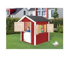 Maisonnette pour enfants Tabaluga couleur rouge/blanc, en bois - Weka