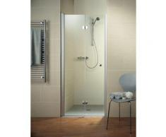 Porte de douche pivotante-pliante, verre 6 mm, profilé en aspect chromé, Garant, Schulte, 90 x 200