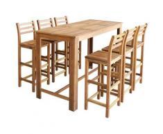 Asupermall - Table et chaises de bar 7 pcs Bois d'acacia massif