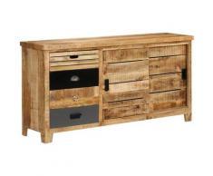 Helloshop26 - Buffet bahut armoire console meuble de rangement bois de manguier solide 160 cm - Bois