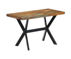 Topdeal VDTD13327_FR Table de salle à manger 160x60x75cm Bois de récupération massif