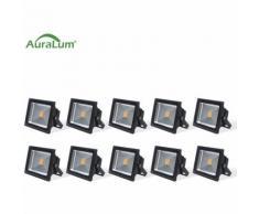10× Projecteur LED 50W IP65 Spot LED 4200-5000LM Éclairage Extérieur et Intérieur Blanc Chaud