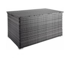 Helloshop26 - Coffre de jardin mobilier 145 cm gris - Gris