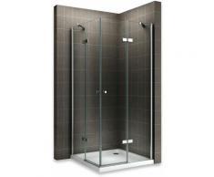 MAYA Cabine de douche H 180 cm en verre transparent 70x80 cm