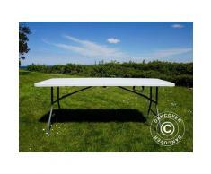 Table pliante 180x74x74cm, gris clair (25 pièces)