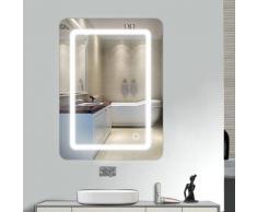 Skecten Miroir lumineux LED de salle de bain 9 W dimension 50 x 4 x 70 cm