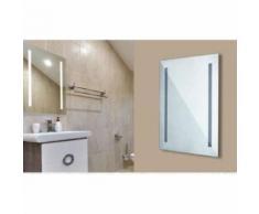Miroir À Led Pour Salle De Bain Antibuée 38W Lumière Froide 6400K Fer Vt-8800 40471