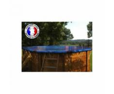 Bâche hiver compatible piscine Ubbink - Taille piscine: Hexagonale 410 - Couleur: Bleu/beige