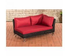 Canapé d'angle Moss rond/noir Rouge rubin