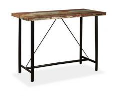 Table de Bar Bois Massif de Récupération 150x70x107 cm