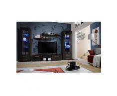 Meuble TV GALINO C design, coloris wengé. Meuble moderne et tendance pour votre salon. - Marron