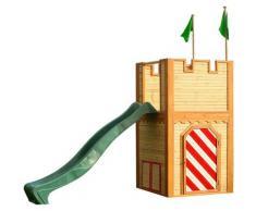 AXI - Arthur Playhouse: Maisonnette pour enfants, fenêtres intégrées et bois très résistant
