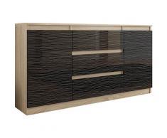 ALBI | Commode contemporaine chambre salon bureau | 140x40x76 cm | Mobilier style scandinave |
