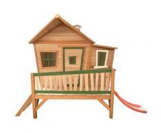 AXI - Emma Playhouse: Maisonnette pour enfants, fenêtres intégrées et bois très résistant