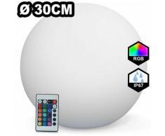 Boule LED Lumineuse Solaire Multicolore 30CM - Ball300