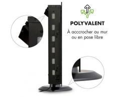 Klarstein Colmar Cheminée électrique 1000W / 2000W LED 7 couleurs - verre