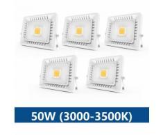 5×Anten 50W Projecteur LED IP65 Étanche Ultra-Mince Spot LED Léger Puissant pour Intérieur et