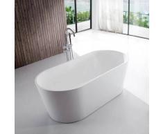 Baignoire �lot Ovale - Acrylique Blanc - 140x70 cm - Naples