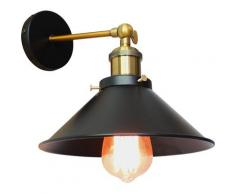 Retro Lampe Murale Interieur Lumieres Industrielle Fer Luminaire Chambre Couloir Restaurant Noir