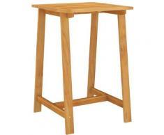Table de bar de jardin 70x70x104 cm Bois d'acacia massif