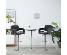 Chaise de bar pivotante 2 pcs Similicuir 54 x 58 x 115 cm Noir
