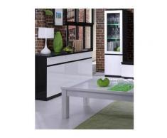 Buffet, bahut, enfilade 3 portes et 3 tiroirs FABIO. Noir et blanc laqué high gloss - Noir