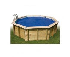 Bâche à bulles pour piscine bois Ubbink rectangulaire Modèle - Linea 6,50 x 3,50m rectangulaire