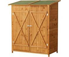 Homcom - Armoire de jardin abri de jardin remise pour outils 140L x 75l x 160H cm 2 portes verrou 2