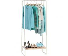 Portant penderie à vêtements / Porte-manteaux avec étagère en bois MDF et métal - Garment Rack