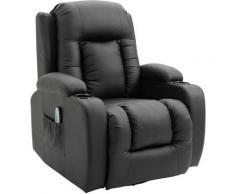 Homcom - Fauteuil de massage et relaxation électrique chauffant inclinable repose-pied télécommande