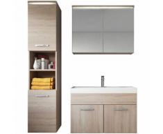 Meuble de salle de bain de Paso 80x40cm lavabo Sonoma – Armoire de rangement Meuble lavabo armoire