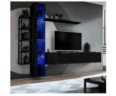 Paris Prix - Ensemble Meuble Tv Design switch Vii 240cm Noir