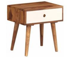 Helloshop26 - Table de nuit chevet commode armoire meuble chambre bois massif de sesham 45 x 30 x